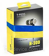 Гибридные внутриканальные наушники T-PEOS H-300 3-х драйверные 3-Way Hybrid (Dynamic+Balanced Armature) 2014, фото 1
