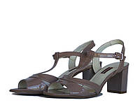 Босоножки бежевого цвета на каблуке, фото 1