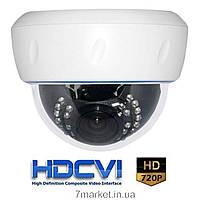 Внутреняя купольная видеокамера PSV HDCVI D10C-I25VF