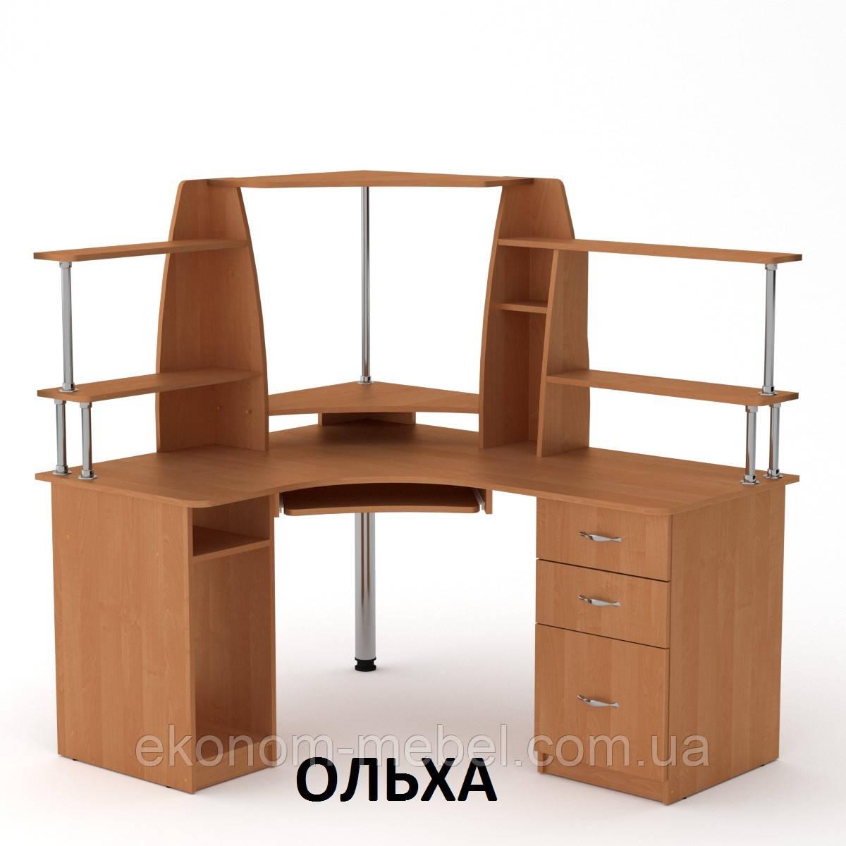 угловой компьютерный стол су 11 в кабинет руководителя эргономичный
