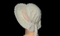 Шляпа Марго лен в цветах