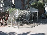 Крытая велосипедная парковка на 16 мест