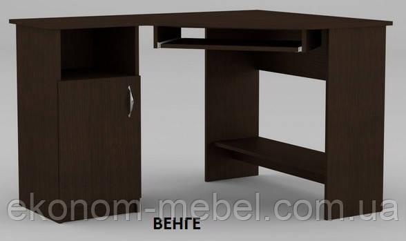 Угловой компьютерный стол СУ-14, ДСП, без надстроек, левый, для персонала