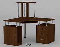 Угловой компьютерный стол СУ-6 с надстройкой, фото 1