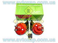 Сигнал звуковой ВАЗ (комплект 2 шт.) красные с реле (GMP) HZ-S90A
