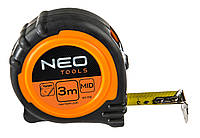 Рулетка neo, сталева стрiчка  3 м x 19 мм, магнiт