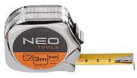 Рулетка neo, сталева стрiчка  3 м x 16 мм