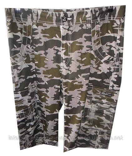 Бриджи мужские Q10NA карманы камуфляж (лето)