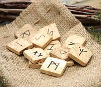 """Руны для гадания деревянные """"Дуб"""" в мешочке"""