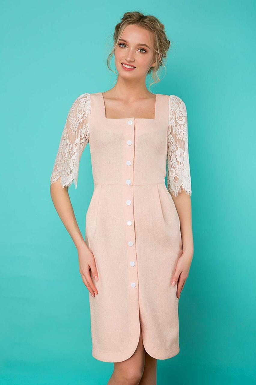 d4a355b60c2 Купить Женственное летнее платье из натурального льна по выгодной ...
