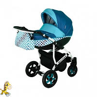 Детская универсальная коляска 2В1 Viper Вайпер горох