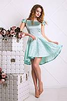Коктейльное платье из атлас и жаккарда (2 цвета)