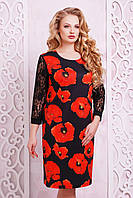 Трикотажное женское платье большого размера ГАРДЕНА-2Б  Glem 50-52 размеры
