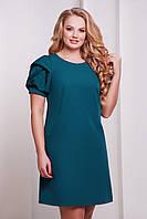 Бирюзовое батальное платье БРИДЖИТ-Б  Glem 50-54 размеры
