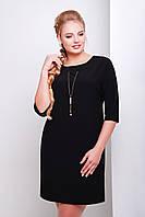 Женское черное батальное платье ЭЛИКА-Б Glem 50-54 размеры