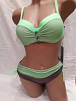 Купальник 317056 Бусины зеленый фисташковый ,идет на наши 46,48,50,52 размеры.