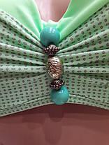 Купальник 317056 Бусины зеленый фисташковый  на наши 46 размеры., фото 2