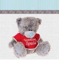 Подарочные пакеты мишка Тедди в красном свитере размер 24 х 24 см (6 шт./уп.)