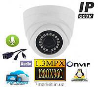Купольная IP камера c ИК и AUDIO входом PSV IPC D130S-I20