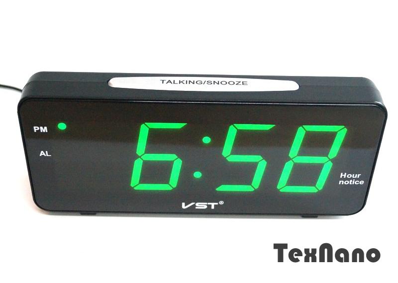 72ad42c4 Настольные электронные часы VST 763T-4 (зеленое табло) - Интернет-Магазин