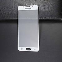 Защитное 3D стекло Samsung A310 / A3 2016 Full cover белый 2.5D 0.26mm 9H
