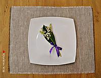 Льняная салфеточка, подставка под тарелку