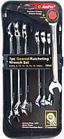 Набор ключей комбинированных трещоточных (10-19мм), 7 предметов