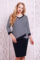 Трикотажный женский блузон АПРИКА-Б Glem 50-54 размеры