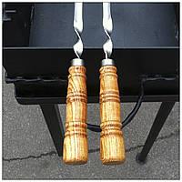 Шампур - уголок с деревянной ручкой, 70 см (уголком)