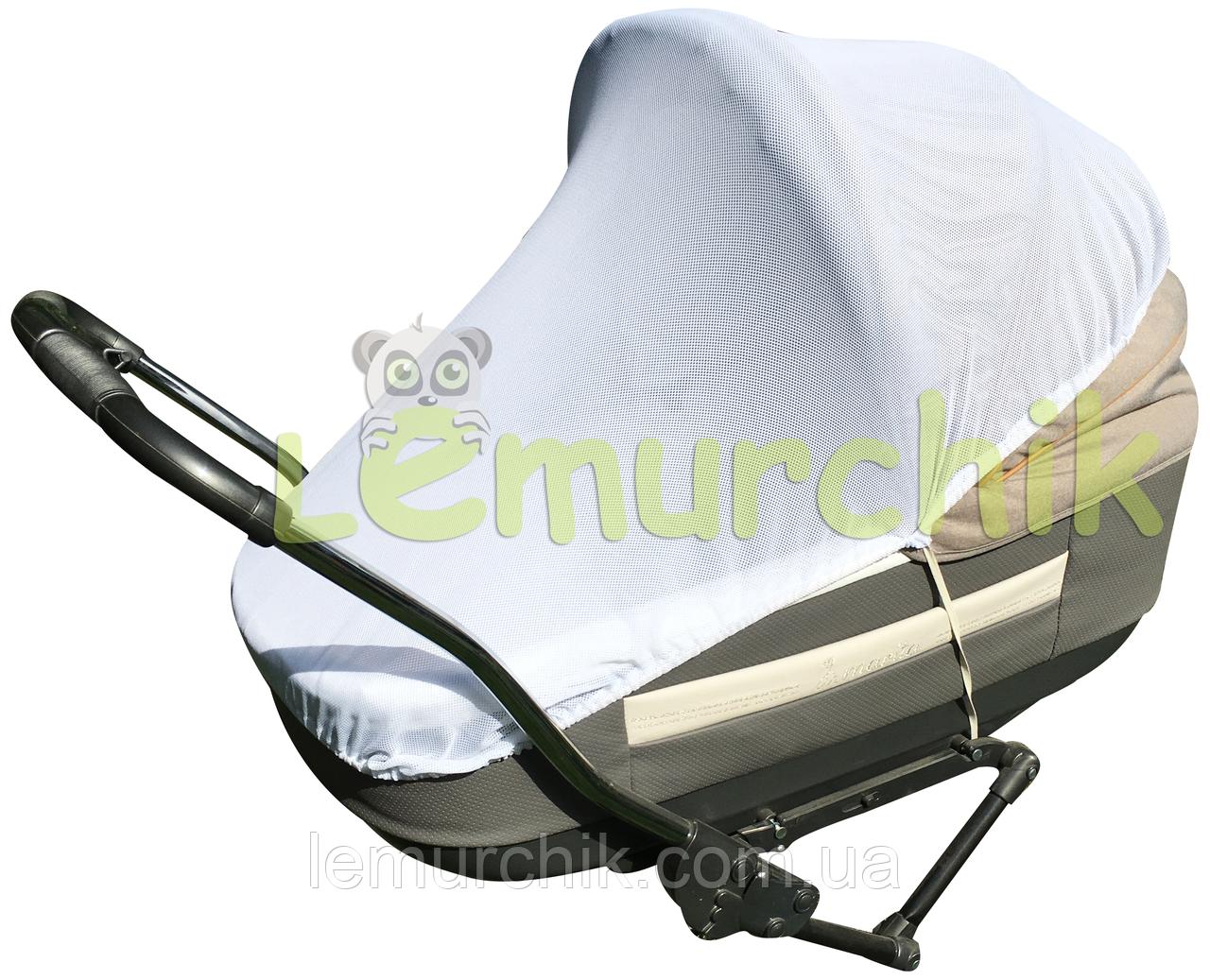Антимоскітна сітка для коляски універсальна (на гумках)
