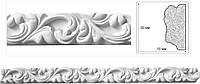 Потолочный плинтус, филенка с орнаментом. Декоративная гипсовая лепнина