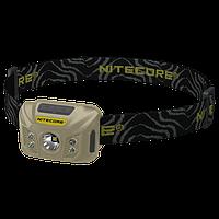 Фонарь налобный Nitecore NU30 (Сree XP-G2 S3, 400 люмен, 6 режимов, USB), бежевый, фото 1
