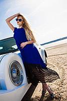 Супер красивое и оригинальное женское платье в пол с кружевом