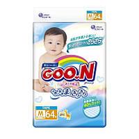 Подгузники GOO.N / Гун / Кун для детей 6-11 кг (размер M, на липучках, унисекс, 64 шт)
