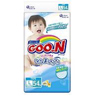 Подгузники GOO.N / Гун / Кун для детей 9-14 кг (размер L, на липучках, унисекс, 54 шт)
