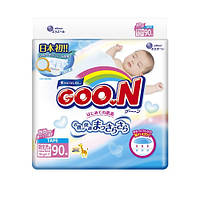 Подгузники GOO.N /Гун / Кун для новорожденных до 5 кг (размер SS, на липучках, унисекс, 90 шт)
