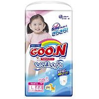 Трусики-подгузники GOO.N / Гун / Кун для девочек 9-14 кг (размер L, 44 шт)