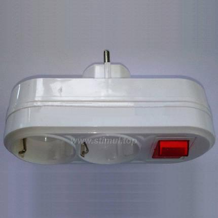 Двойник с заземлением и кнопкой FETIH, фото 2