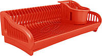 Сушилка для посуды Алеана 2 в 1 53*23*19 ассорти (167091) красная
