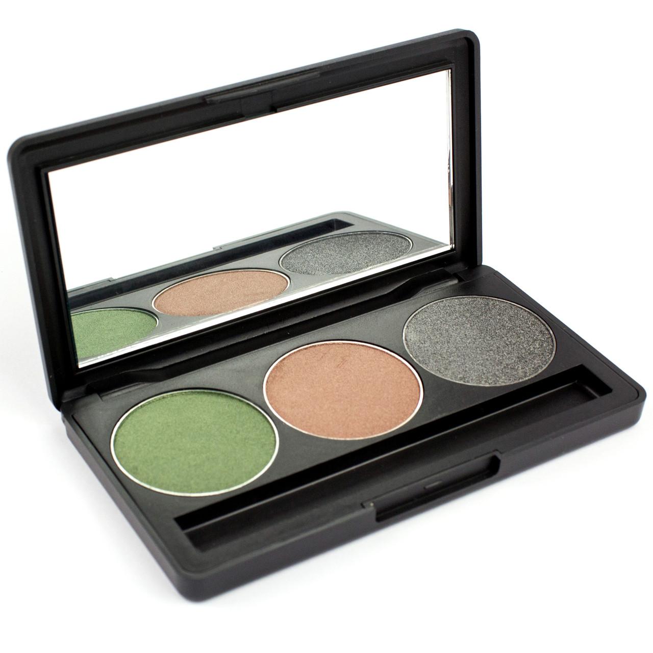 Набор теней для век 3 цвета Beauties Factory Eyeshadow Palette #21 - GREEN SMOKE