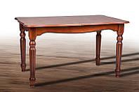 Стол обеденный Венеция раскладной из массива ясеня, орех патина