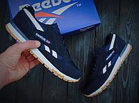 Мужские кроссовки Reebok Classic 1 🔥 (Рибок Классик) Blue/Black