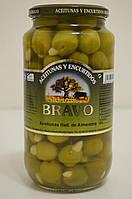 Оливки Bravo фаршированные цельным миндалем 1кг , фото 1