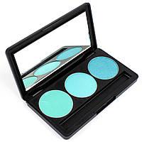 Набор теней для век 3 цвета Beauties Factory Eyeshadow Palette #10 - ICY BLUE, фото 1