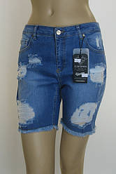 Шорты джинсовые рваные