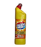 Средство для чистки унитаза Agent Max -Цитрус, антибактериальное 1,1л