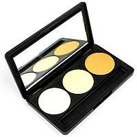 Набор теней для век 3 цвета Beauties Factory Eyeshadow Palette #26 - GOLDMINE