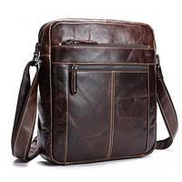 Мужская кожаная сумка через плечо BEXHILL коричневая