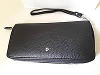 Женский кожаный клатч-кошелек черный