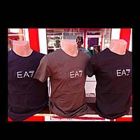 Мужская футболка EA7 тиснение